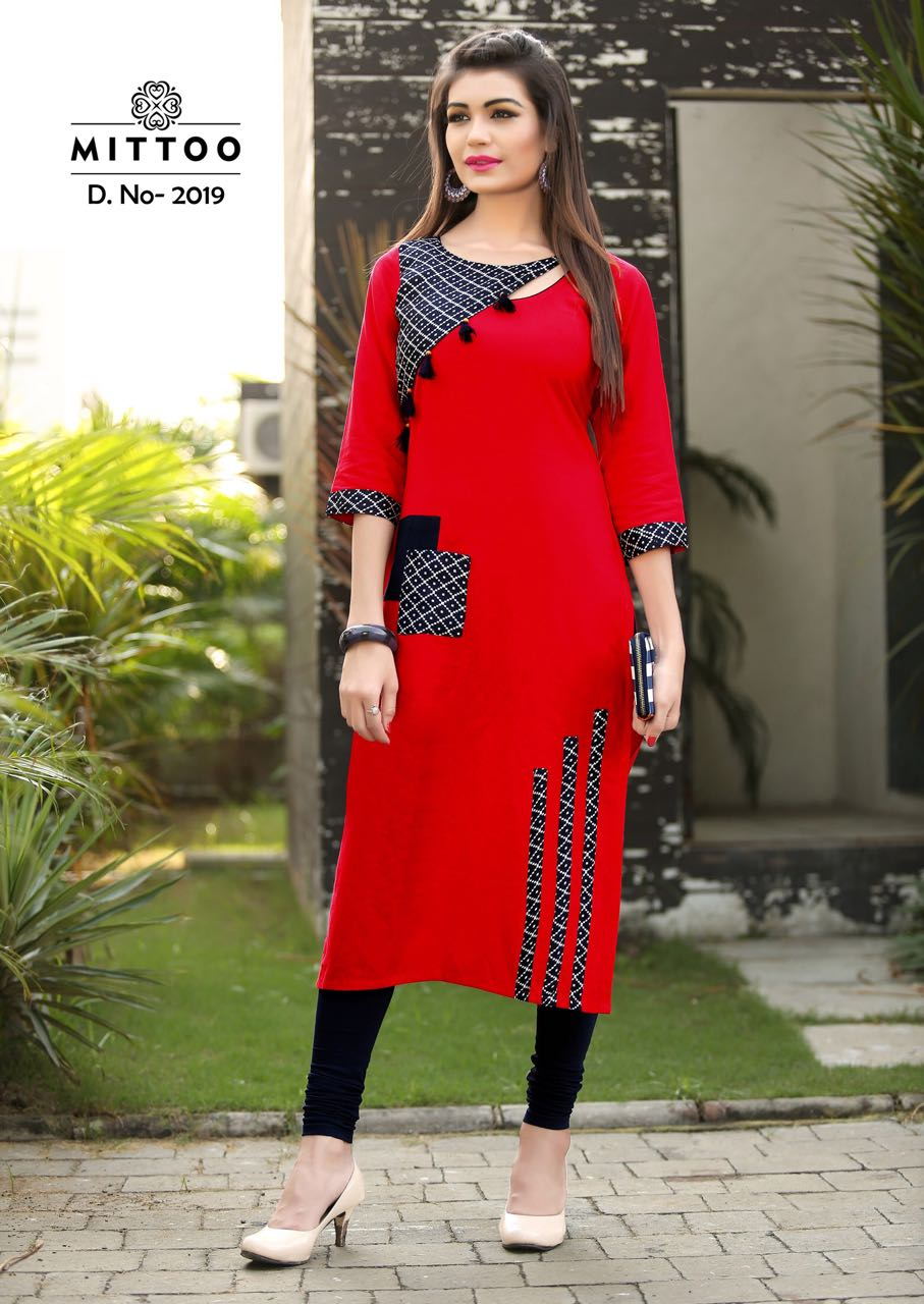 red cotton long kerala online shopping kurti. Black Bedroom Furniture Sets. Home Design Ideas