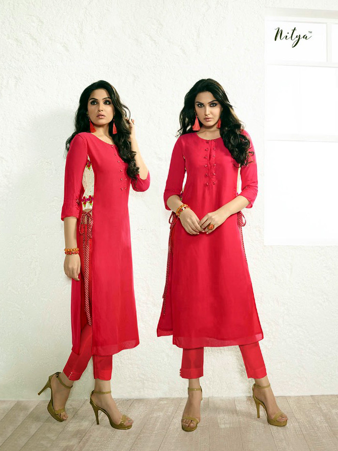 92e0f55fd72900 Nitya red rayon size long top online from drooni jpg 662x882 Long top