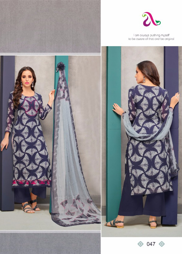 39f925c93a Lerissa Navy Blue Printed Cotton Churidar Material Online Shopping ...