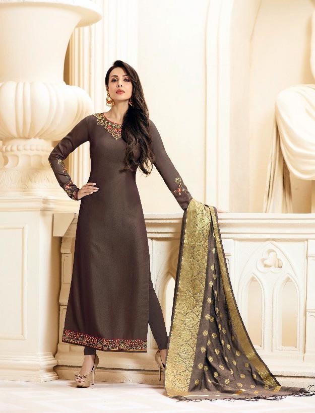 ed4da6ffb7 Malaika Banaras by Fiona Brown Georgette Salwar Material Online Shopping